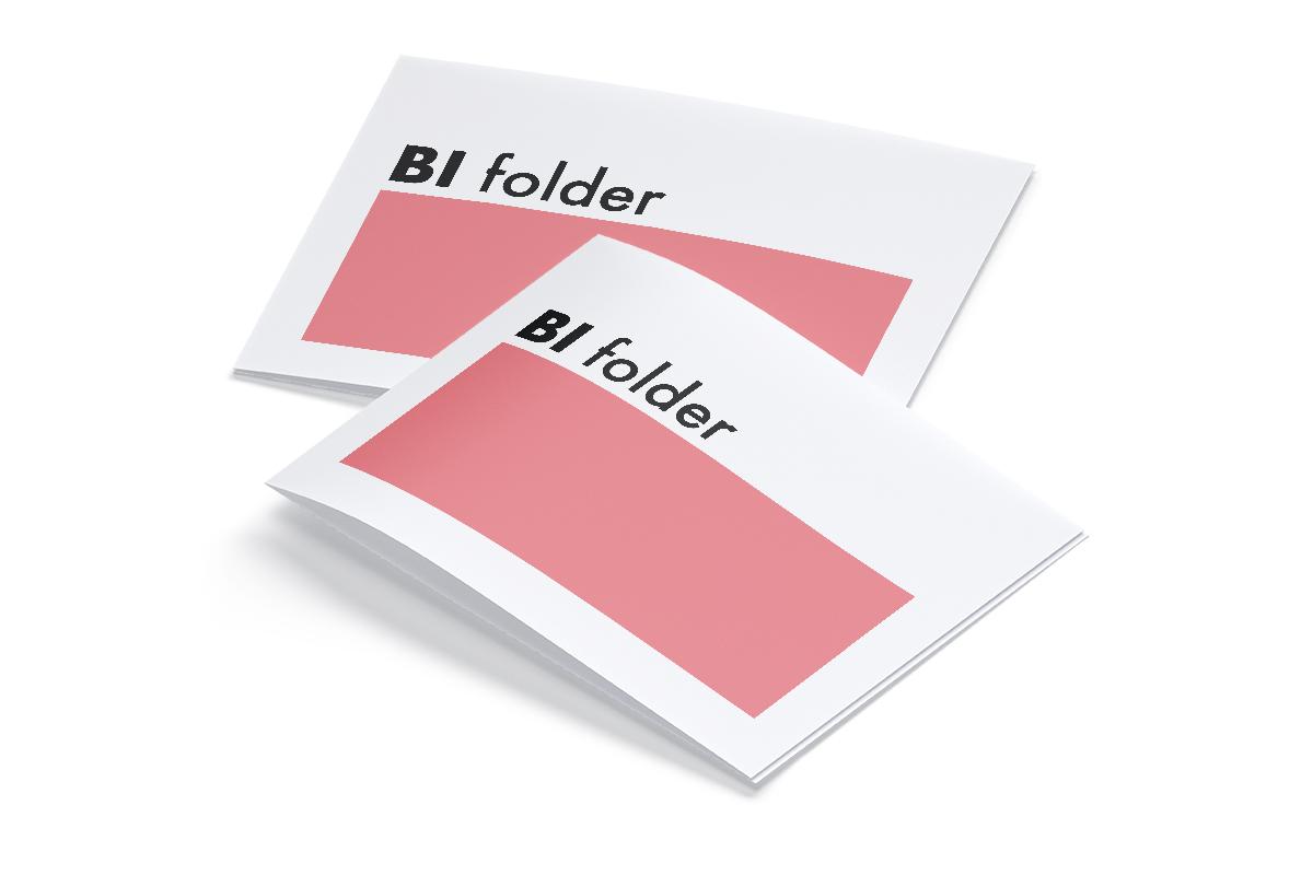 Stampa cartellino con piega