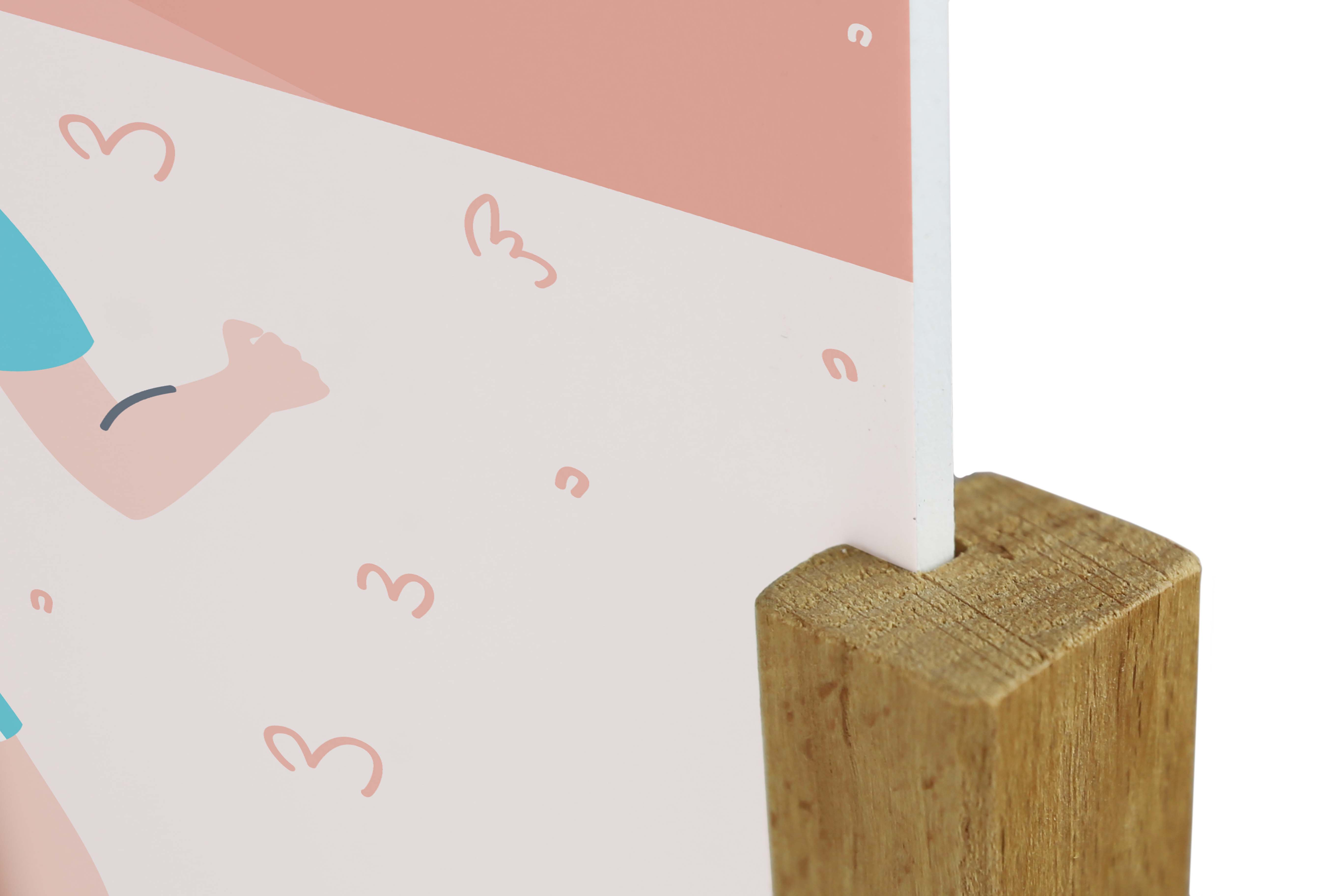 Espositore da banco in legno